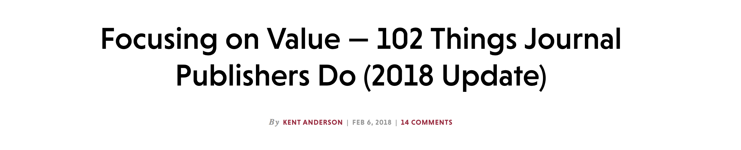 102 Things Publisher's Do